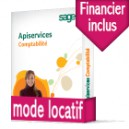 Sage ApiServices Comptabilité Evolution Ebics (sepa) Latitude BASIC Locatif DUO avec Financier
